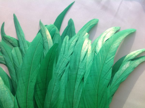 Emerald Green Rooster Feathers